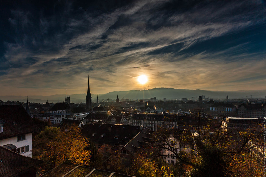 Sunset over Zurich